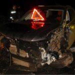 В Котельничском районе на трассе «Вятка» столкнулись три автомобиля: четыре человека получили травмы