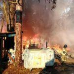 В Кирове горит центр отдыха «Летучий корабль»: на месте работают семь пожарных расчётов