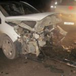 На Победиловском тракте столкнулись «Peugeot», «Skoda Fabia» и «Foton»: два человека госпитализированы