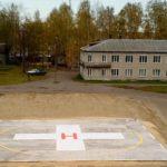 На территории Верхнекамской ЦРБ появилась вертолетная площадка