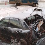 В Юрьянском районе столкнулись Mitsubishi и ГАЗ