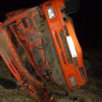 В Немском районе на трассе перевернулся «КамАЗ»: водитель госпитализирован