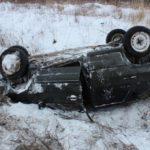 На трассе «Вятка» бесправник на «четырнадцатой» опрокинулся в кювет: водитель госпитализирован