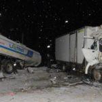 В Юрьянском районе столкнулись четыре грузовика: два человека госпитализированы
