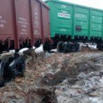 В Кировской области с рельсов сошел грузовой поезд: проводится проверка