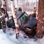 В Вятскополянском районе иномарка врезалась в дерево: пострадали женщина-водитель и трое детей