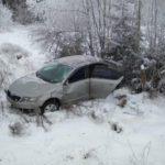 В Яранском районе «Skoda Octavia» опрокинулась в кювет: пострадали два человека