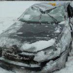 В Слободском районе «Фольксваген-Поло» врезался в фуру и перевернулся в кювет: три человека получили травмы