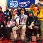 Кировчанка завоевала золотую награду Кубка мира по ледолазанию