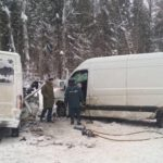 В Верхошижемском районе столкнулись два фургона: один человек погиб, еще трое госпитализированы