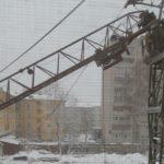 В Кирове на строительной площадке упала стрела крана