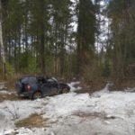В Афанасьевском районе водитель «Нивы» перевернулся в кювет