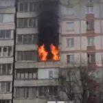 В Кирове горит квартира в жилом доме