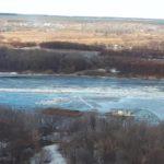 В Кировской области ледоходом снесло понтонный мост