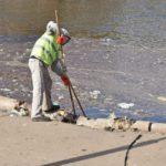 В Кирове очищают пруд у цирка