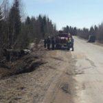 В Омутнинском районе автомобиль «Шевроле» перевернулся в кювет