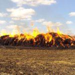 В Фаленском районе сгорело 100 тонн соломы
