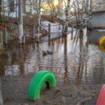В Кирове на затопленной территории детского сада плавают утки