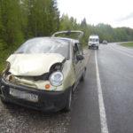 В Афанасьевском районе «Дэу Матиз» опрокинулся в кювет: пострадали 4 человека, в том числе трое детей