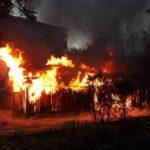 В Кирове ночью сгорели хозпостройки