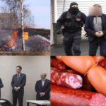 Итоги недели: пожары в районах Кировской области, расследование громких уголовных дел и опасные продукты питания