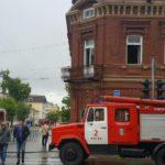 В Кирове тушили здание бывшего роддома