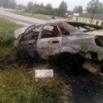 В Оричевском районе иномарка врезалась в столб и сгорела