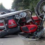 В Орловском районе на дороге опрокинулся бесправник на незарегистрированном мотоцикле