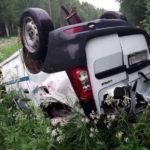 В Советском районе водитель «Лады Ларгус» перевернулся в кювет