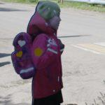 В Кирсе появился макет шагающей школьницы