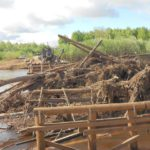 В Верхнекамском районе из-за разрушения моста через Каму введен режим ЧС