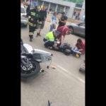 В Кирове столкнулись «Ауди» и мотоцикл: на месте работают медики