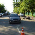 В Кирове водитель «Киа» сбил девушку на мотоцикле