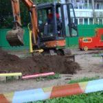 На игровой площадке детского сада в Кирове провалилась земля