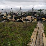 Появились кадры с места гибели четырех человек на пожаре в Кировской области