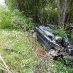 В Оричевском районе пьяный водитель «Мицубиси» вылетел в кювет и врезался в дерево