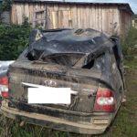 В Санчурском районе водитель «Приоры» опрокинулся в кювет: госпитализированы два человека