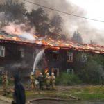 В Слободском горел двухэтажный барак