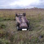 В Кикнурском районе пьяный водитель «ВАЗа» перевернулся в кювет