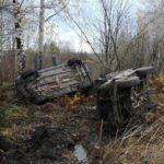 В Юрьянском районе на трассе столкнулись три автомобиля