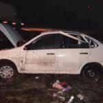 В Нолинском районе автоледи на «Гранте» перевернулась в кювет: женщина госпитализирована