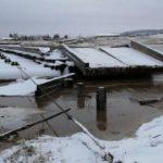 В Кировской области смыло мост через Каму