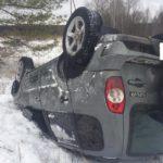 В Нолинском районе водитель «Нивы» опрокинулся в кювет