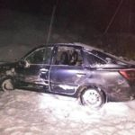 В Юрьянском районе «Гранта» опрокинулась в кювет: госпитализирован 19-летний молодой человек