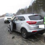 В Юрьянском районе на трассе «Вятка» столкнулись две иномарки