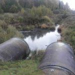 В Котельничском районе продолжается загрязнение реки стоками молочной промышленности