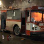 В Кирове загорелся троллейбус