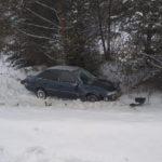 В Оричевском районе водитель «Дэу» вылетел в кювет