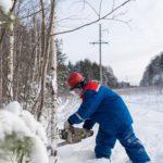 В 2019 году энергетики Кировэнерго выполнили расчистку и расширение 3 тыс гектаров трасс под воздушными линиями электропередачи