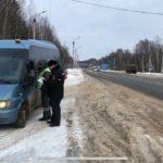 Кировские автоинспекторы провели рейд по контролю за перевозкой пассажиров в общественном транспорте